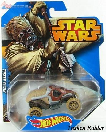 Samochodziki bohaterowie Star Wars Hot Wheels Tusken Raider CGW35