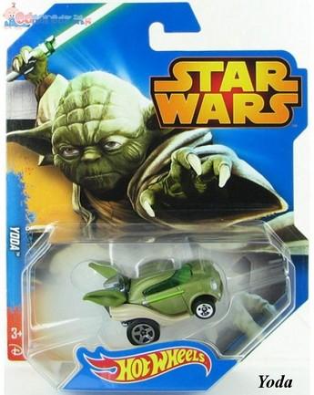 Samochodziki bohaterowie Star Wars Hot Wheels Yoda CGW35