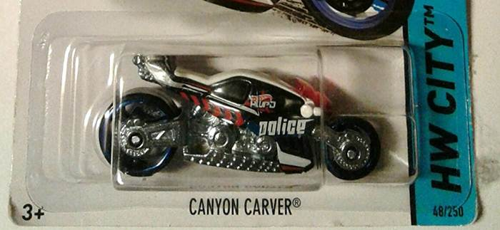 Motocykl wyścigowy z motocyklistą, Hot Wheels Canyon X2075