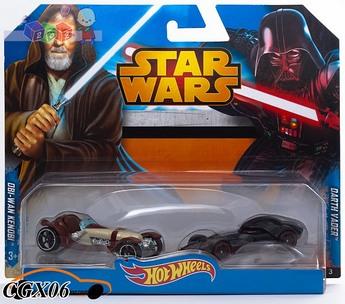 Hot Wheels Star Wars Samochodziki Bohaterowie - dwupak CGX06 CGX02