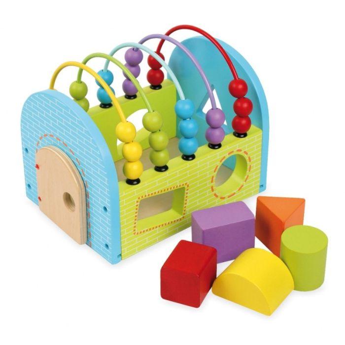 Baby Mix Drewniany domek sorter