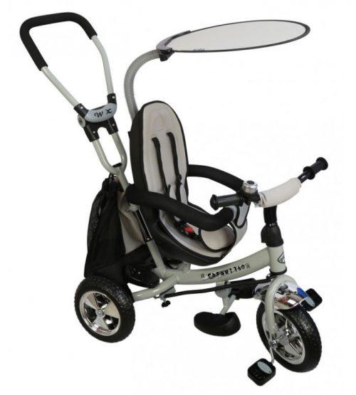 Baby Mix  rowerek trójkołowy z siedziskiem obrotowym Grey
