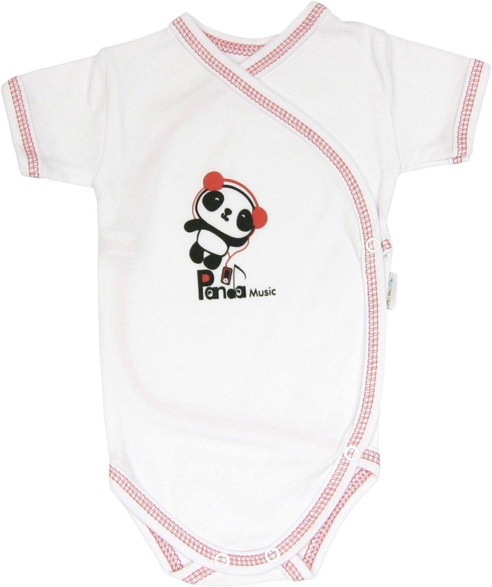 Body krótki rozpinane rękaw Panda Mamatti 56