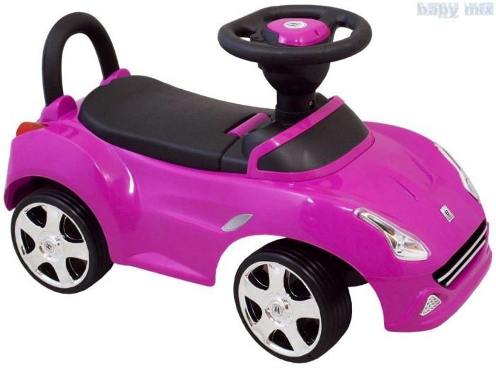 Pchacz pojazd dla dzieci z dźwiękiem i światłami. Fioletowy