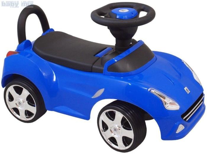 Pchacz pojazd dla dzieci z dźwiękiem i światłami. Niebieski