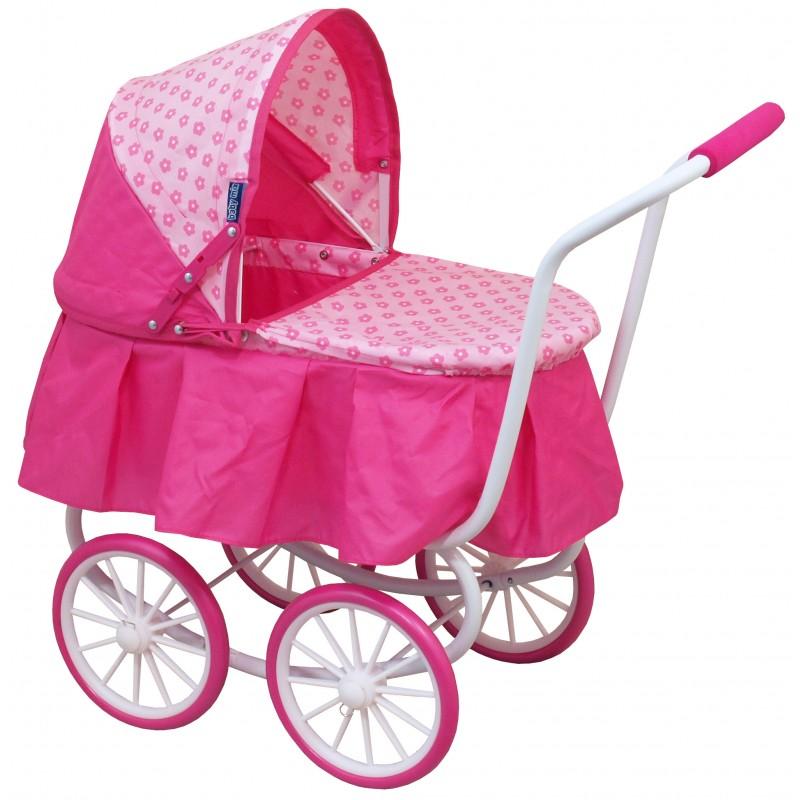 Wózek lalkowy dla dzieci -klasyczny wózek głęboki