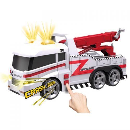 Dumel Samochód pomoc drogowa z dźwiekiem i światłami 38cm HT63951