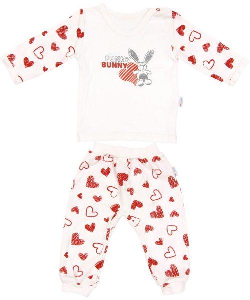 Piżama dla dziecka bawełniana długi rękaw serduszko Mamatti 86