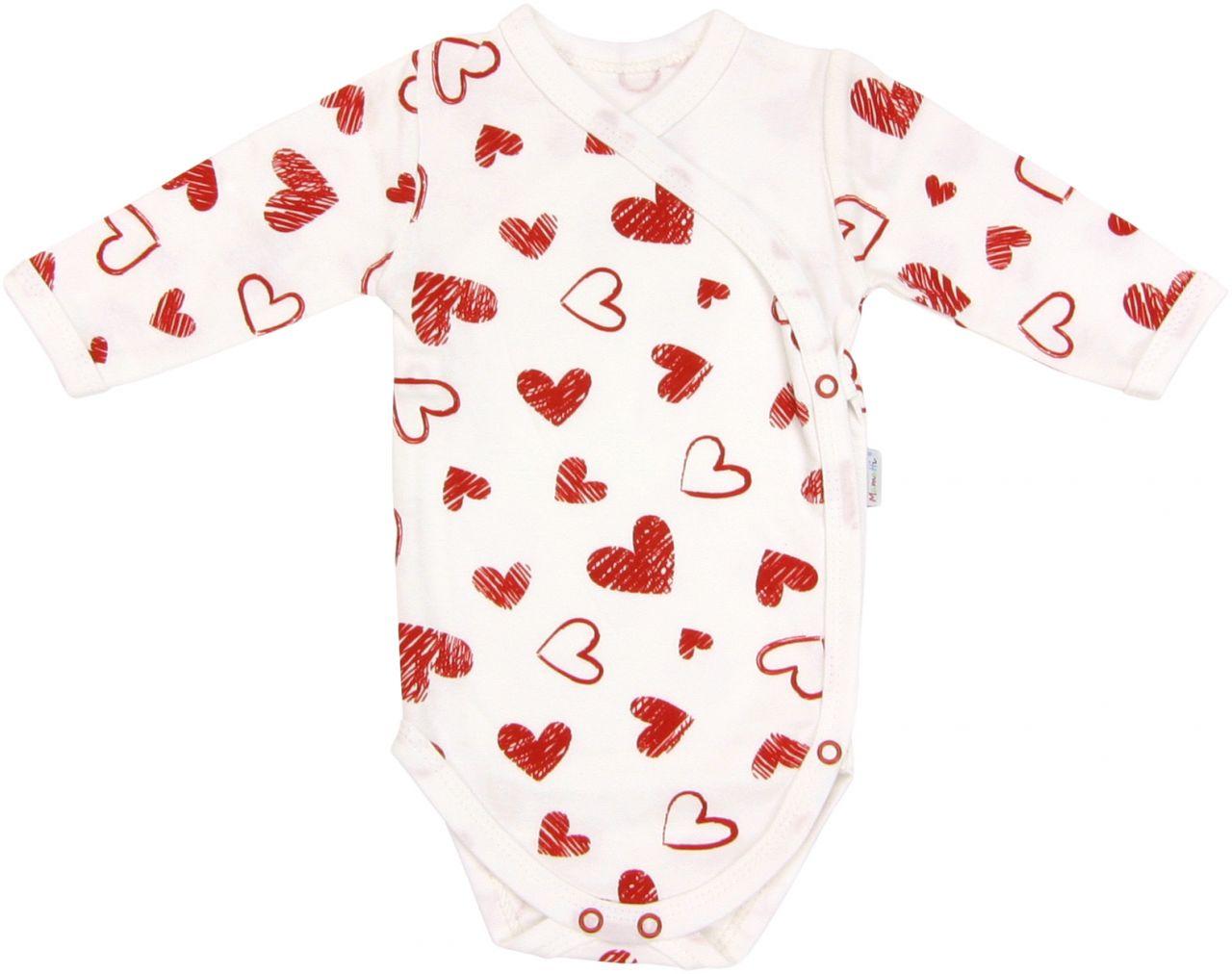Śpiochy bawełniane dla niemowląt serduszko Mamatti 56