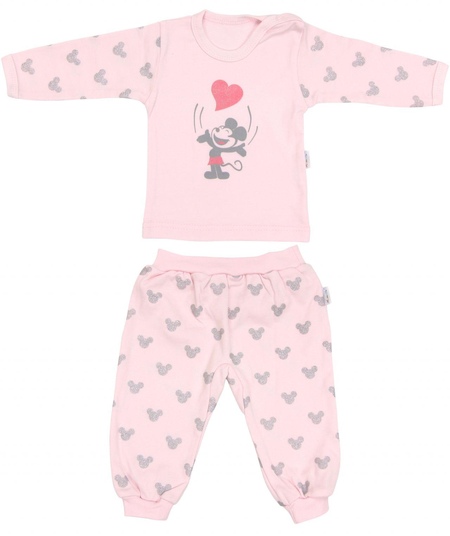 Piżama dla dziecka z długim rękawem Myszka Mamatti 92 różowa