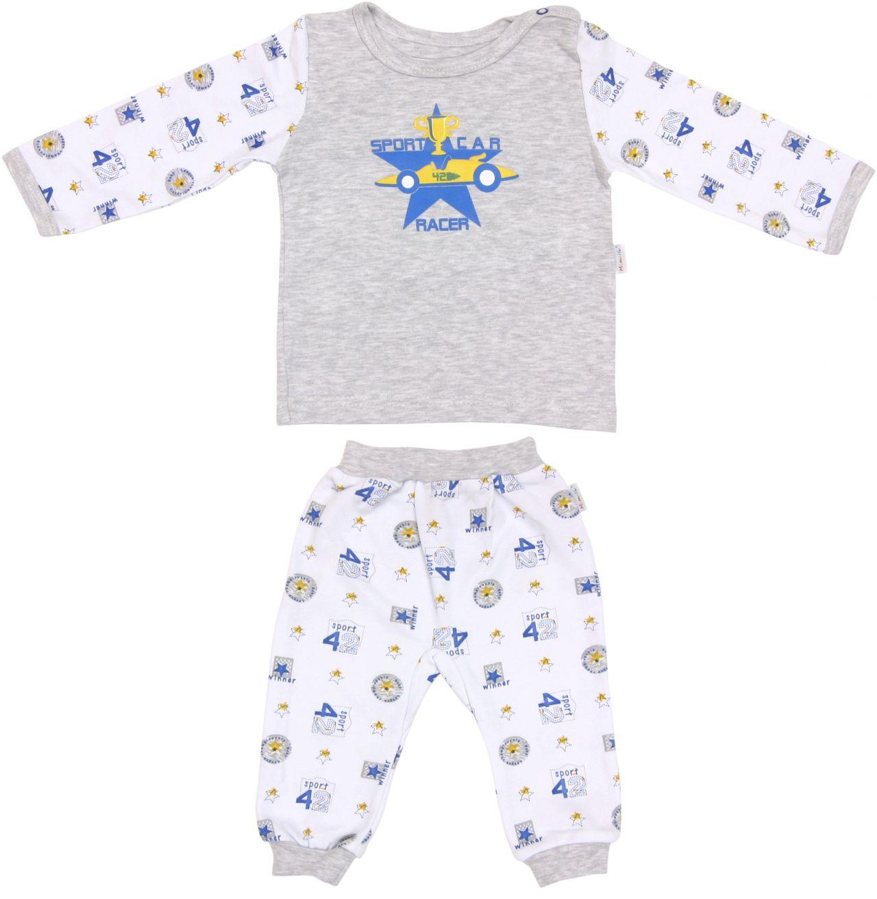 Piżama dla dziecka czwóreczka szara Mamatti 104