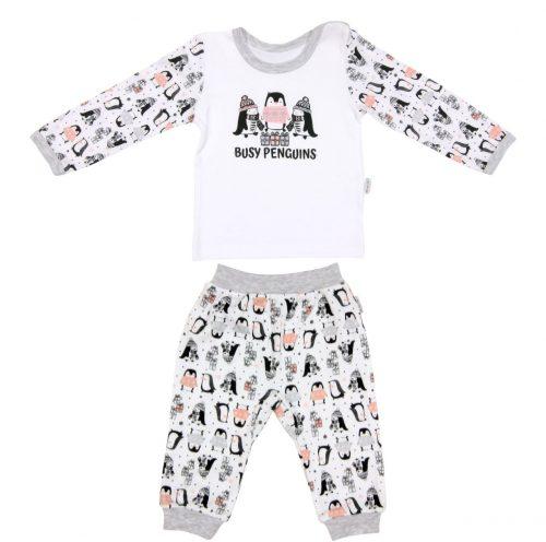 Piżama dla dziecka bawełniana długi rękaw Pingwin Mamatti 92