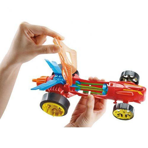 Hot Wheels auto nakręciaki wyścigówki DPB63 Czerwony 28 cm