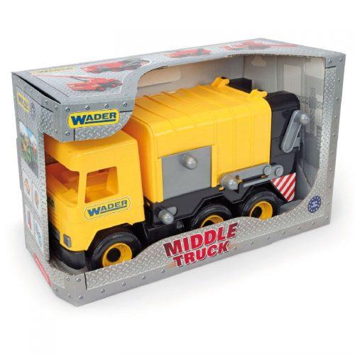Middle truck śmieciarka żółta - Wader 32123
