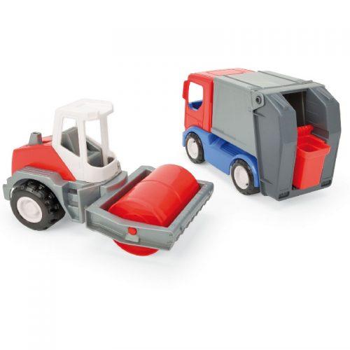 Pojazdy Tech Truck walec i śmieciarka Wader 35370