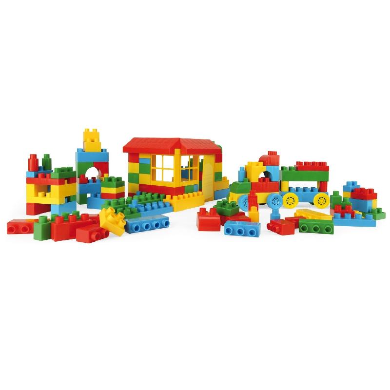 Zestaw kolorowych klocków 102 elementy w kartonie Wader 41290