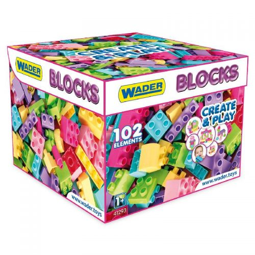 Zestaw klocki Blocks Create & Play pink Wader 41293