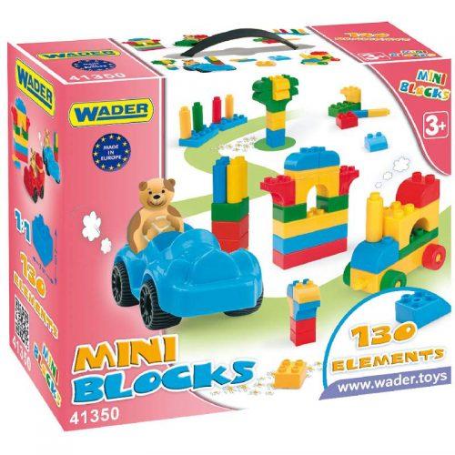 Mini blocks mały zestaw klocków konstrukcyjnych 130 elementów Wader 41350