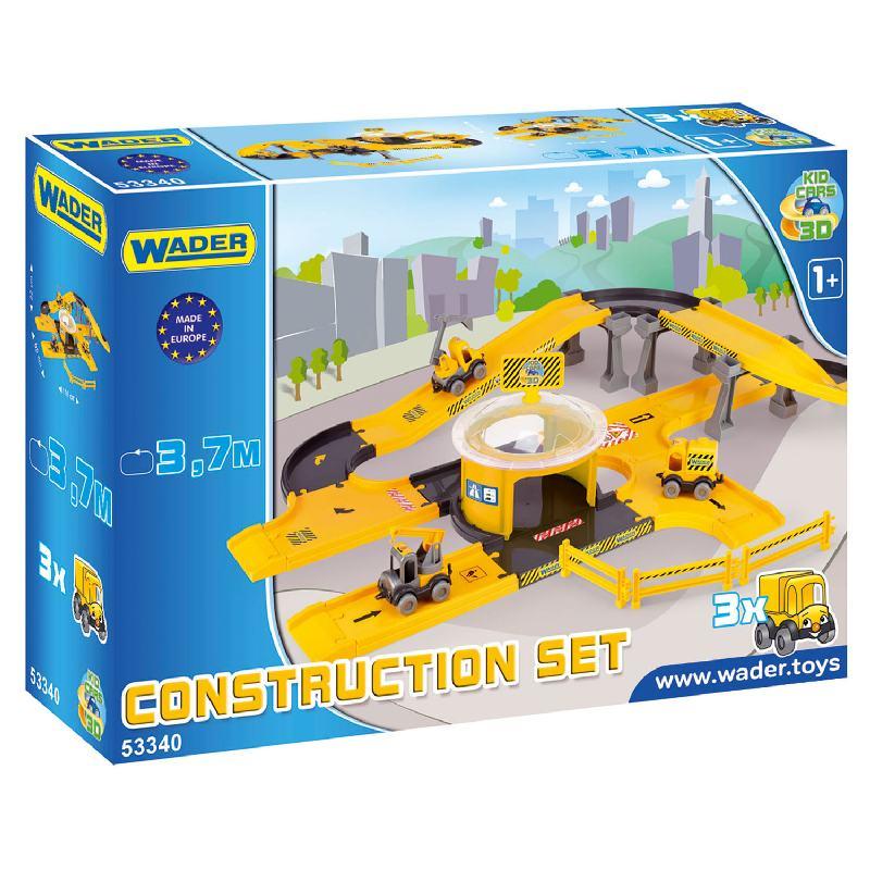 Kid Cars 3D - Zestaw budowa z trasą 3,7m i 3 autkami Wader 53340