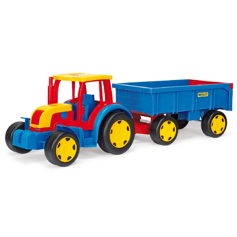 Traktor Gigant z przyczepą - duży zestaw 120 cm Wader 66100