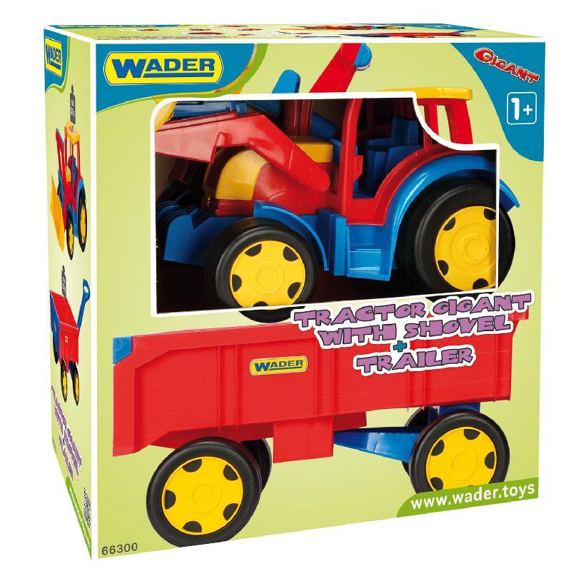 Mega traktor z łyżką i i przyczepą 66300 Wader