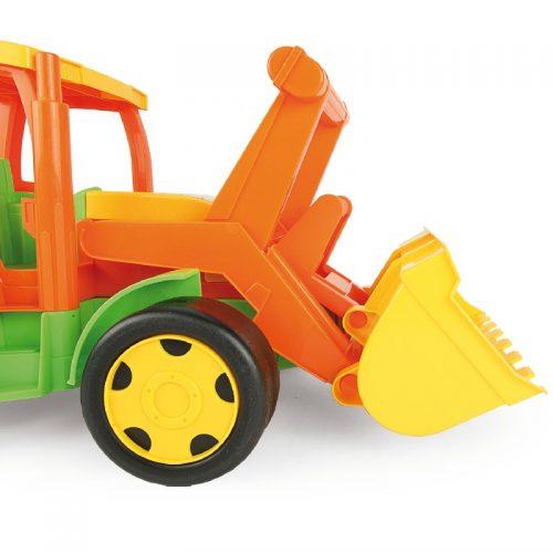 Traktor spychacz Gigant Wader 66005 wersja letnia bez kartonu Zielony Pomrańczowy
