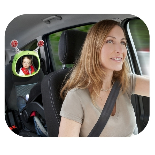 Interaktywne lusterko do samochodu dla dziecka Benbat szare + pilot