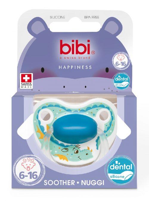 Smoczek uspokajający ortodontyczny Bibi  Star Dust Smok Happiness 6-16