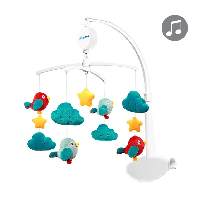 Karuzelka nad łóżeczko z pozytywką Clouds & Birds