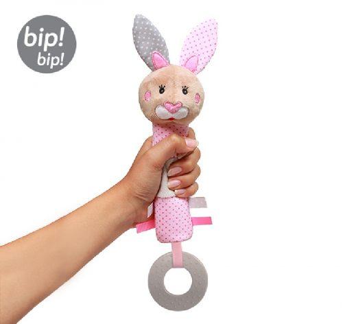 Piszczek grzechotka z pluszu dla niemowląt z dźwiękiem Bunny Julia Babyono