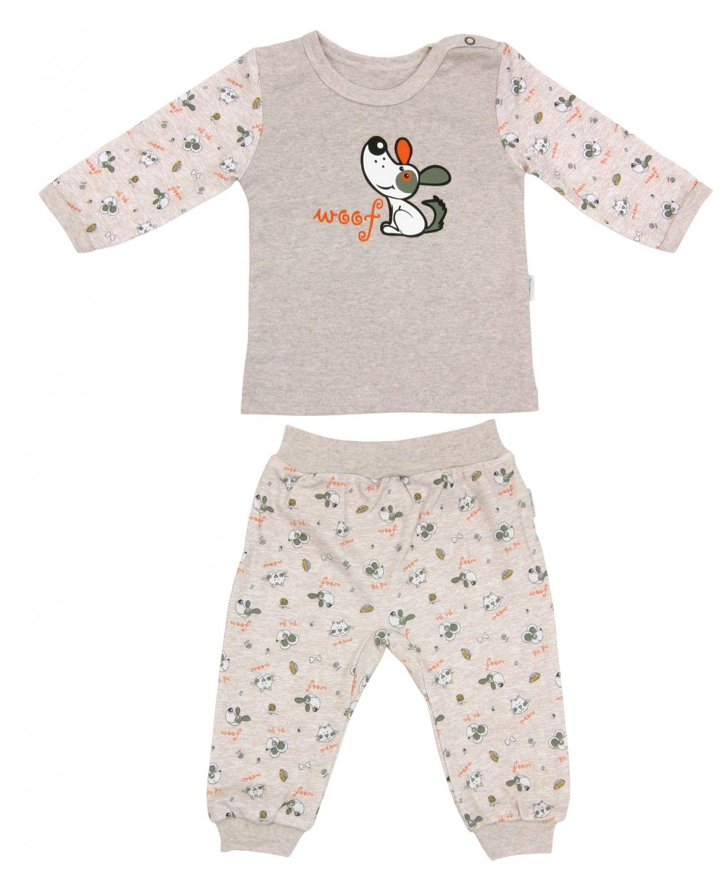 Piżama dla dziecka bawełniana długi rękaw Pet's Mamatti 80