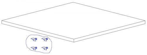 Dodatkowa półka do szafy dwudrzwiowej Mini Pinio