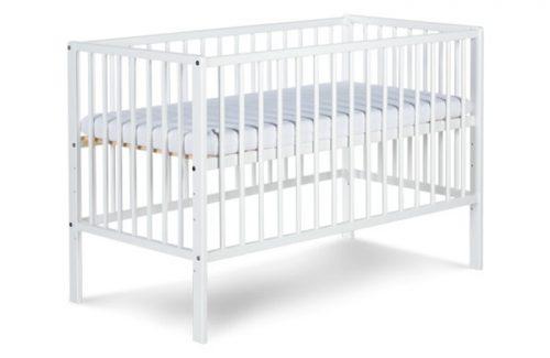 Radek X Klupś drewniane łóżeczko dziecięce 120x60 cm Biały