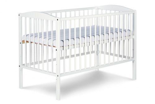 Łóżeczko drewniane dla dzieci 120x60 Radek II Klupś Biały