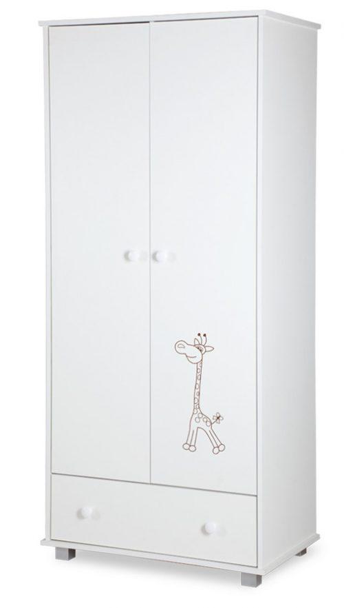 Szafa dwudrzwiowa Safari Żyrafka biała Klupś 184 x 83 x 52 cm