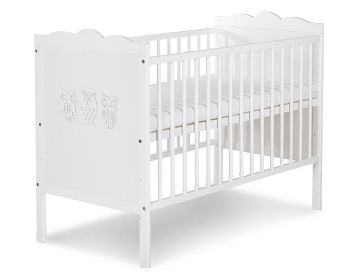 Niemowlęce łóżeczko drewniane Klupś Marsell 120x60 cm