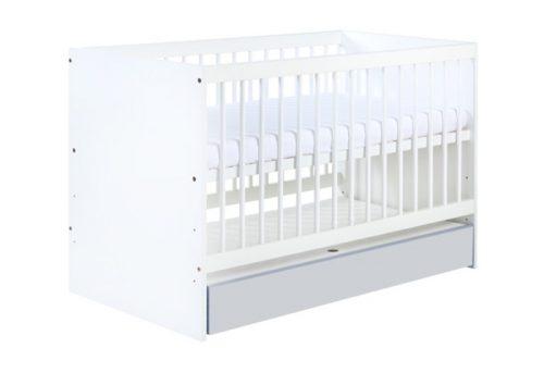Łóżeczka dziecięce Klupś 120x60 cm z szufladą - łóżeczko z kolekcji Dalia Grey