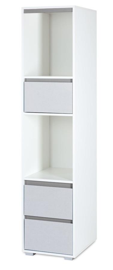 Regał z szufladami do pokoiku dziecięcego Klupś kolekcja Dalia 183x42x50 cm Grey