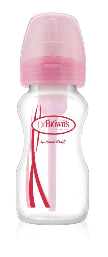 Dr Browns butelka szeroka szyjka 270ml options, różowa
