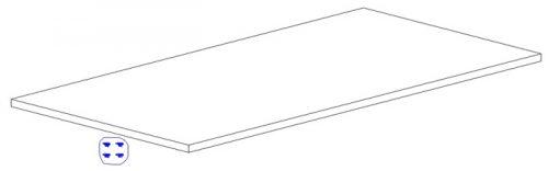 Dodatkowa półka do szafy trzydrzwiowej MDF Marsylia Pinio - biała