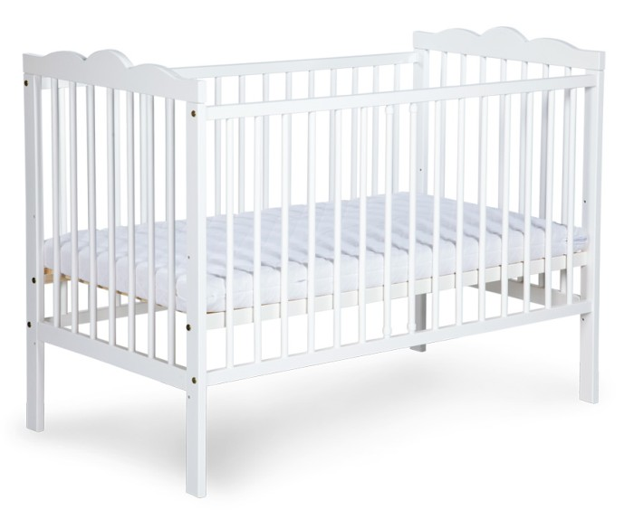 Łóżeczko dziecięce Klupś 120x60 Radek III Biały