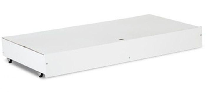 Łóżeczko z drewna i płyty meblowej Klupś Karolina II 120x60 z szufladą Biały