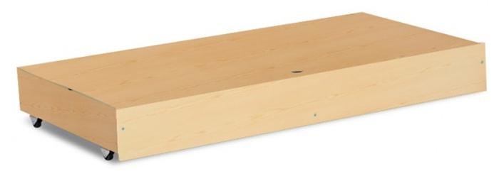 Łóżeczko z drewna i płyty meblowej Klupś Karolina II 120x60 z szufladą Sosna