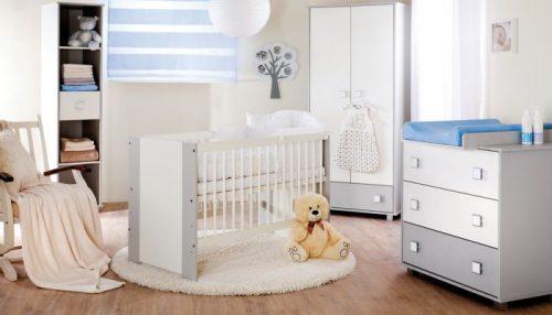 Zestaw mebki Klupś Safari De Luxe łóżeczko 120x60 cm z szufladą + komoda + szafa