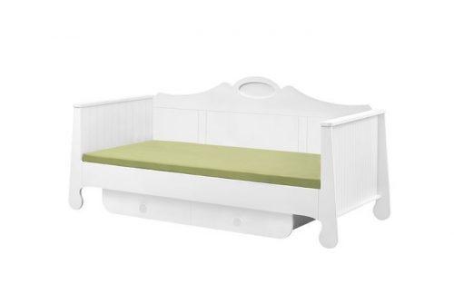 Duże łóżko młodzieżowe 200x90 z szufladą Parole Pinio Biały