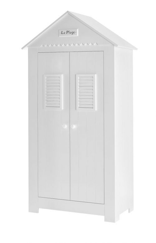 Pinio Szafa 2-drzwiowa wysoka MDF kolekcja Marsylia - biała