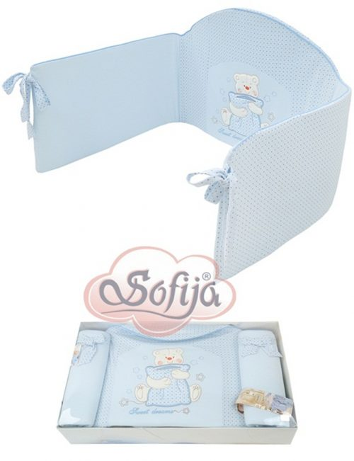 Ochraniacz do łóżeczka dziecięcego Sofija Misia Niebieski