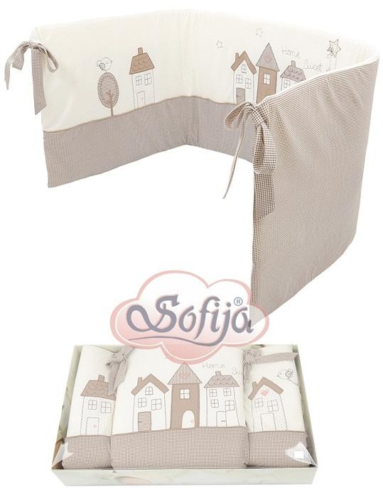 Ochraniacz do lóżeczka firmy Sofija Muffi Ecru