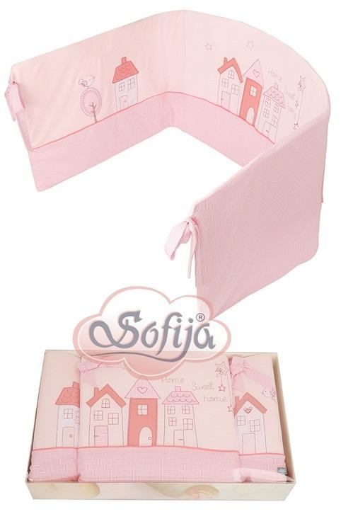 Ochraniacz do lóżeczka firmy Sofija Muffi Różowy