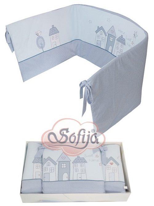 Ochraniacz do lóżeczka firmy Sofija Muffi Szary